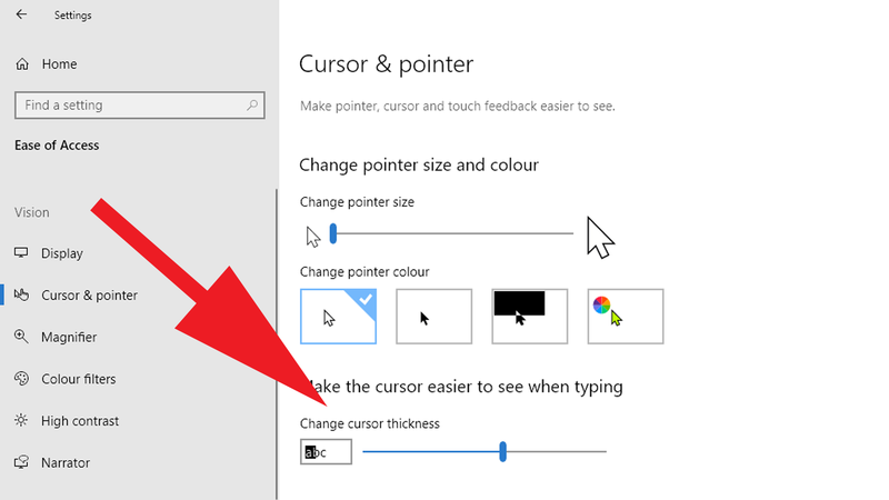 How-to-change-mouse-cursor-in-Windows: Cursor Size