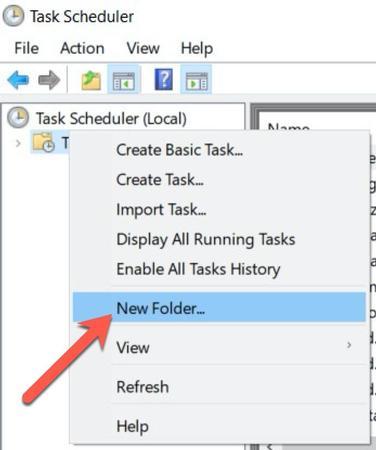 Create scheduled task Windows 10