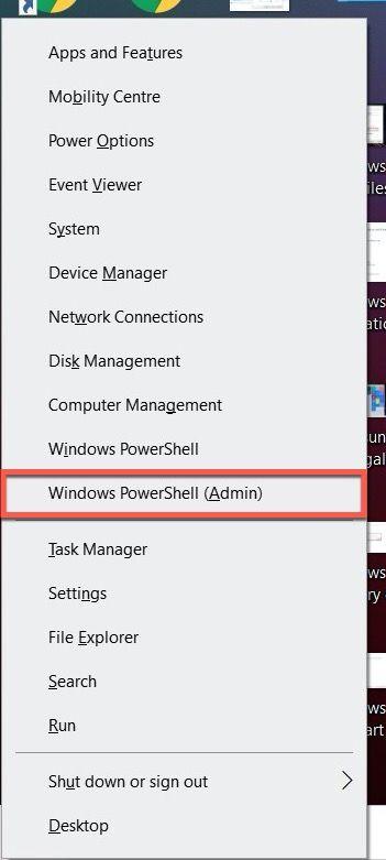 Windows 10 PowerShell admin
