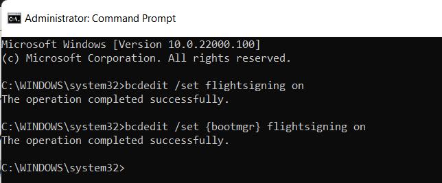 Windows insider programme fix