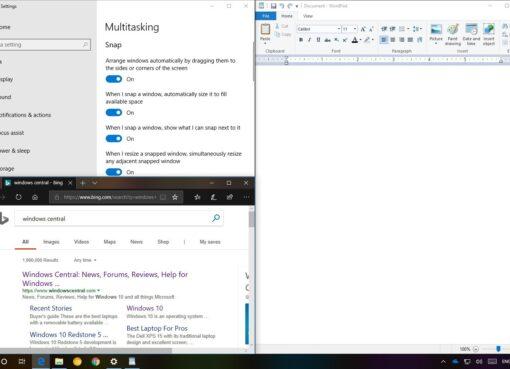 Cómo dividir la pantalla en Windows 10